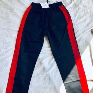 ⭐️NWT LF street pants red stripe drawstring⭐️